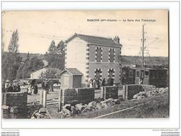 CPA 87 Rancon La Gare Et Le Tramway Ligne Limoges St Sulpice Les Feuilles - Other Municipalities