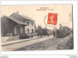 CPA 58 Montsauche La Gare Et Le Train Tramway Ligne De Nevers Saulieu - Montsauche Les Settons