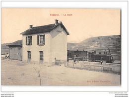 CPA 10 Essoyes La Gare Et Le Train Tramway Ligne Des Riceys Cunfin - Essoyes