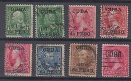 Kuba Cuba Puerto Principe 8 Stamps Ex Mi# 17-22 Used 1899 Overprint USA - Oblitérés
