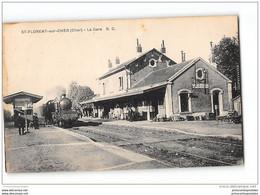 CPA 18 St Saint Florent Sur Cher La Gare Et Le Train - Saint-Florent-sur-Cher