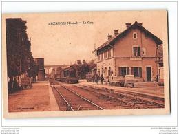 CPA 23 Auzances La Gare Et Le Train - Auzances