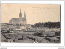 CPA 28 Chartes Mainvilliers Vue Du Pont D'Orleans Et Le Train - Chartres