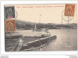 CPA Tahiti Rade De Papeete Arrivée Du Cotre Moorea Courrier Des Iles - Polynésie Française