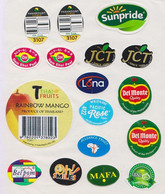 Fruit Label Banana Mango Pear Mixed - Fruits & Vegetables