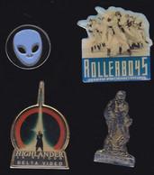 67052-Lot De 4 Pin's...Cinéma..robocop.rollerboy.highlander.mask. - Cinema