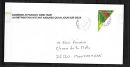RRR Lettre Affranchie Avec La Moitié D'un N° 3764 Circulée Le 09/06/2005 Avec ACCORD FORMEL DE LA POSTE Unique ! ! ! - Errors & Oddities