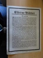 2x Eiserne Blätter Nr.41 Und Nr.54 Ohne Datum Ca.1914/18 - Mededelingen