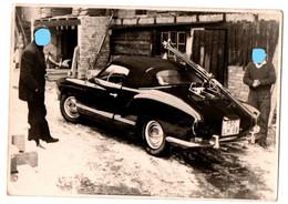 ANTIGUA FOTO OLD PHOTO DE COCHE CAR VOITURE AUTO AUTOMÓVIL VOLKSWAGEN KARMANN GUIA TIPO 14 DESCAPOTABLE ?? VER FOTO..... - Cars