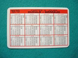 Petit Calendrier 1978 Carte à Jouer Ducale - Grimaud - Aide à Domicile En Milieu Rural - Kalender
