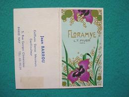 Petit Calendrier 1976 Floramye Pivert - Jean Barrou Coiffeur Coiffure Nay - Kalender
