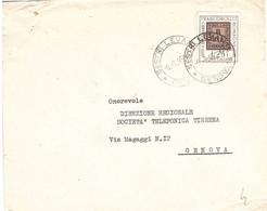 1959 £25 FRANCOBOLLO ROMAGNE ANNULLO SESTRI LEVANTE GENOVA - Briefmarken Auf Briefmarken