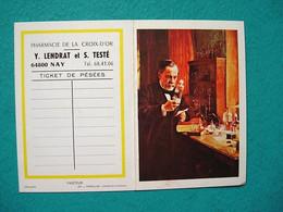 Petit Calendrier 1973 - Pasteur - Pharmacie Lendrat Et Testé - Nay - Kalender