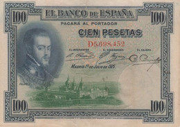 (B0319) SPAIN, 1925 (1936). 100 Pesetas. P-69c. VG - [ 1] …-1931 : Prime Banconote (Banco De España)