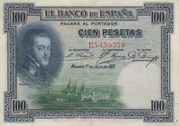(B0320) SPAIN, 1925 (1936). 100 Pesetas. P-69c. VF - [ 1] …-1931 : Prime Banconote (Banco De España)