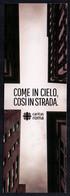ITALIA - SEGNALIBRO / BOOKMARK - CARITAS ROMA - COME IN CIELO COSI' IN STRADA - Lesezeichen