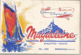 Album Chateaux & Paysages De France , Biscottes , Toast MAGDELEINE , GRANVILLE , Manche , 6 Scans , Frais Fr 3.15 E - Sammelbilderalben & Katalogue