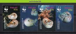 Ngb381s WWF VISSEN SCHELPEN NAUTILUS SHELLS FISCHE POISSONS MARINE LIFE PALAU 2006 PF/MNH - Unused Stamps