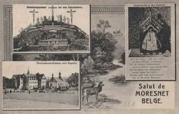 """OSTCANTONS : ZK (SALUT DE MORESNET) """"SM""""  """" P  M  B / 3 / 27.IV.""""(1919) Van """"4° JAGERS TE VOET / MORESNET"""" Naar VLADSLOO - Marcophilie"""