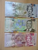Banknoten  BAHAMAS 1/2,1,3 Dollars 2017/19  Unc - Bahamas