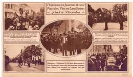 Orig. Knipsel Coupure Tijdschrift Magazine - Vilvoorde - Prijskamp & Jaarmarkt Voor Paarden - 1927 - Oude Documenten