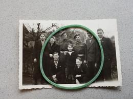 Photo D'époque Militaires Avec Refugier - Zonder Classificatie