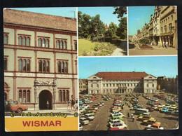 BRD - AK -  Wismar - Fürstenhof, Lindengarten, Krämerstraße, Markt, Rathaus - Wismar