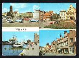 BRD - AK -  Wismar - Markt, Hafen, Krämerstraße - Wismar