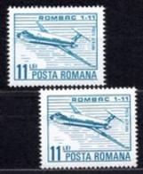 Romania  Michel # 3940 **  2 X  Flugzeuge - Ungebraucht
