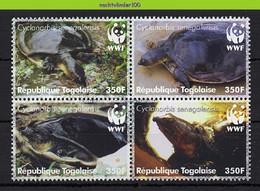Ngb396s WWF FAUNA REPTIELEN SCHILDPAD Cyclanorbis Senegalensis REPTILES TURTLE SCHILDKRÖTEN TOGO 2006 PF/MNH - Unused Stamps