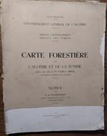 Carte Forestière De L'Algérie Et De La Tunisie_Gouvernement Général De L'Algérie_1941_Carte Essences Forestières - Maps/Atlas