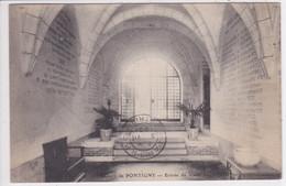 89 PONTIGNY Abbaye ,entrée Du Vieux Logis , Marcophilie Timbre à Date Avec Mention ,Paris R .P - Pontigny