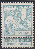 BELGIEN BELGIUM [1910] MiNr 0083 I ( **/mnh ) - 1910-1911 Caritas