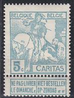 BELGIEN BELGIUM [1910] MiNr 0083 I ( */mh ) - 1910-1911 Caritas