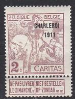 BELGIEN BELGIUM [1911] MiNr 0082 III ( */mh ) - 1910-1911 Caritas
