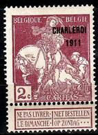 BELGIEN BELGIUM [1911] MiNr 0086 III ( */mh ) - 1910-1911 Caritas