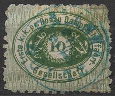 1868 - 70 Österreich Donau-Dampfschiff-Fahrt  D.D.S.G ( DDSG )- 10k Grün Gebraucht - Mi. 3 I - Levant Autrichien