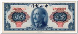 CHINA,1 YUAN,1945 (1948),P.387,XF - Cina