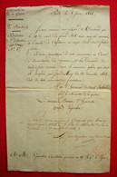 1814 Las Double De Lettre Nomination De François Gourdin Capitaine 19 RI Ligne Baron D'Harvesse Legendre - Historical Documents