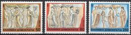 Greece, 1991, Michel 1774-1776, Art - The Nine Muses, 3v, MNH - Greece