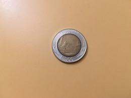 MONETA COINS ITALIA ITALY REPUBBLICA ITALIANA 500 LIRE 1990 BIMETALLICA BUONA CONSERVAZIONE CIRCOLATA CIRCULATE - 500 Lire