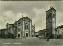 CREVALCORE ( BOLOGNA ) CHIESA E PIAZZA -  EDIZIONE PINI - SPEDITA - 1950s (BG6095) - Bologna