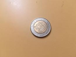 MONETA COINS ITALIA ITALY REPUBBLICA ITALIANA 500 LIRE 1993 BIMETALLICA BANCA  BUONA CONSERVAZIONE CIRCOLATA CIRCULATE - 500 Lire