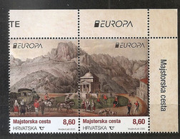 CROATIA 2020,EUROPA CEPT,OLD POSTAL ROUTES,,MNH - Croazia