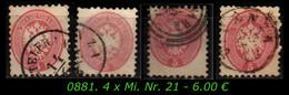 Österreich - Lombardei - Mi. Nr. 21 In Gebraucht - Farben / Stempel - Levant Autrichien