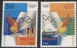 Greece, 2000, Michel 2044-2045, Olympic Games - Sydney, Australia, 2v, MNH - Greece