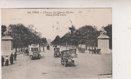 SP- 75 - PARIS - L'Avenue Des Champs Elysees - Voitures - Tacots - Timbre - Cachet - 1922 - - Champs-Elysées