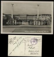WW II Postkarte : Wien , Schloss Schönbrunn , Der Führer In Wien, Gebraucht Frühe Deutsche Feldpost Wien - Wilhelmshav - Germany
