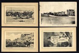 Conjunto De 4 Postais Antigos De: POVOA De VARZIM Edição FRASCO & Cª. Lot Of 4 Old Postcards (Porto) PORTUGAL - Porto