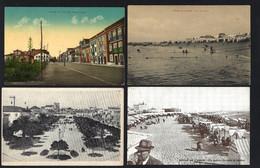 Conjunto 4 Postais Antigos: POVOA De VARZIM Praia + Passeio Alegre + Praça Almada. Lot 4 Old Postcards (Porto) PORTUGAL - Porto